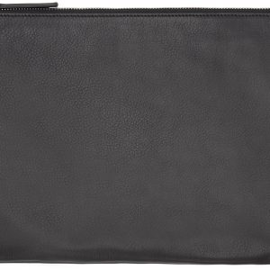 A4 Black Leather Document Holder