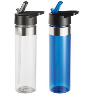 Acrylic Water Bottle with Straw