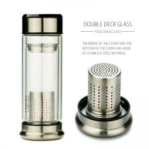 Aluminum Filter Infuser Water GlassWater Bottle