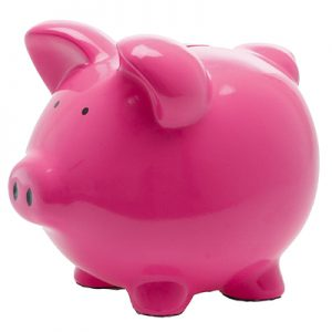 Classic Pink Ceramic Piggy Bank
