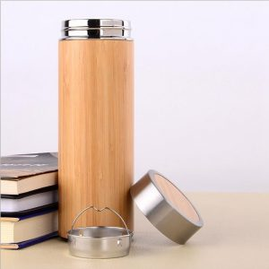 Double Wall Bamboo Water Bottle