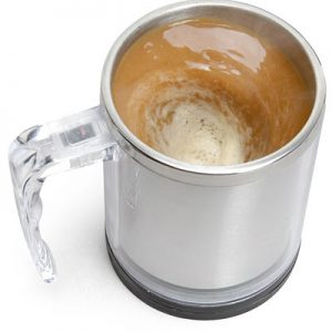 Double Wall Self Stirring Traveller with Lid
