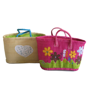 Girls fun-time carry baskets