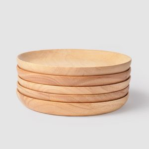 Japanese-style Wooden Plates