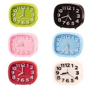 Multi Colour Oval Face Clocks