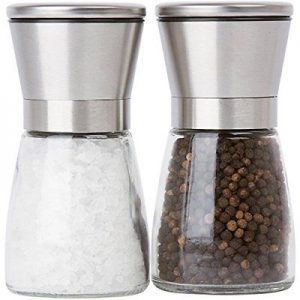 Stainless Steel Top Salt and Pepper Mill