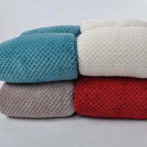 Honeycomb coral fleece blanket