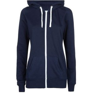 Ladies Cut Zip-up Hoodies - Available in multi colours - (Sizes S-3XL)
