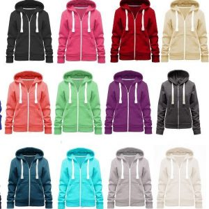 Ladies Cut Zip-up Hoodies - (Sizes S-3XL)