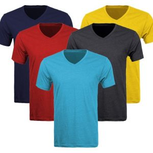 V-Neck T-Shirts - 145gsm, 160gsm, 180gsm, 200gsm (Sizes S-3XL)